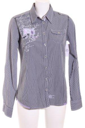 Soccx Langarmhemd weiß-schwarz Karomuster Casual-Look