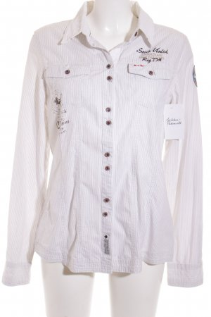 Soccx Long Sleeve Shirt white-black pinstripe classic style