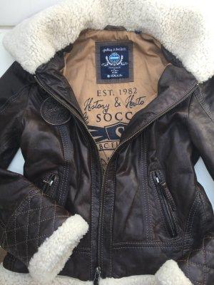 SOCCX Leder Jacke . Neu. Gr.S