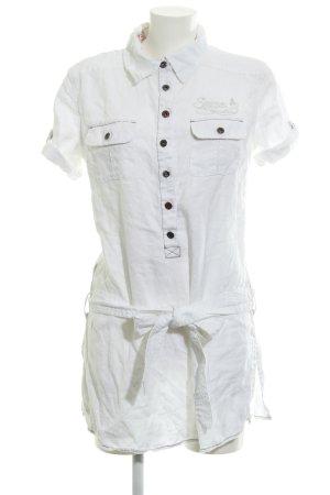 Soccx Blouse en lin blanc style décontracté