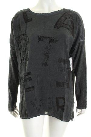 Soccx Longshirt grau-dunkelgrau Motivdruck minimalistischer Stil