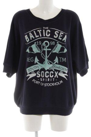 Soccx Oversized Pullover Schriftzug gedruckt Casual-Look