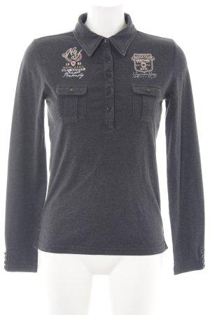 Soccx Polo-Shirt schwarz Schriftzug gedruckt schlichter Stil