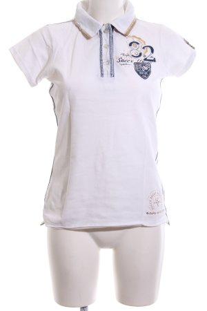 Soccx Polo-Shirt Schriftzug gedruckt Casual-Look