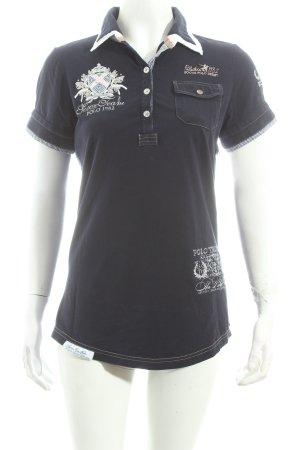 Soccx Polo-Shirt dunkelblau Casual-Look
