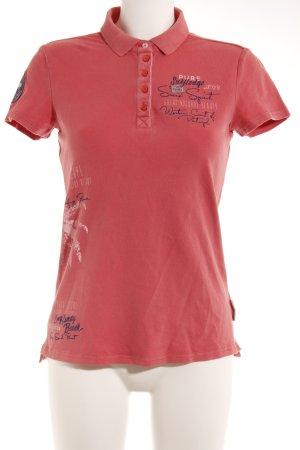 Soccx Polo-Shirt hellrot sportlicher Stil