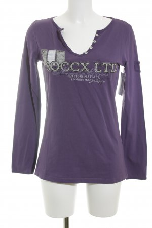 Soccx Pullover dunkelviolett Casual-Look