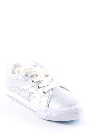 Soccx Schnürsneaker silberfarben-weiß Casual-Look