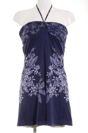 Soccx schulterfreies Kleid dunkelblau Blumenmuster Beach-Look