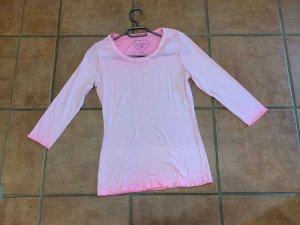 Soccx Gestreept shirt neonroos-roze Katoen