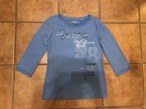 Soccx Shirt met print azuur
