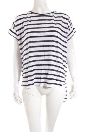 Soccx Shirt weiß-dunkelblau Streifenmuster Casual-Look