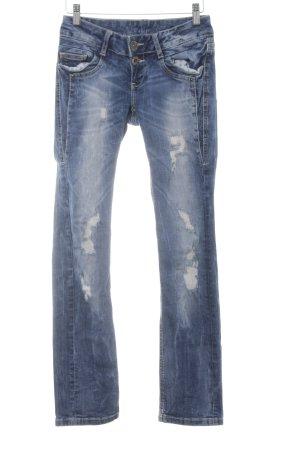 Soccx Skinny Jeans dunkelblau Street-Fashion-Look