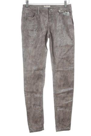 Soccx Skinny Jeans graubraun-goldfarben Farbverlauf Casual-Look