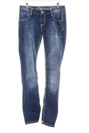 Soccx Slim Jeans dunkelblau-graublau Casual-Look