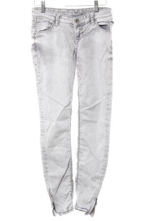 Soccx Slim Jeans hellgrau Bleached-Optik