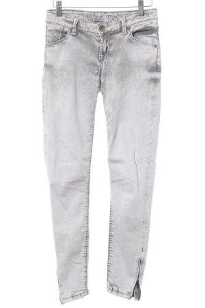 Soccx Slim Jeans hellgrau-grau Farbtupfermuster Washed-Optik