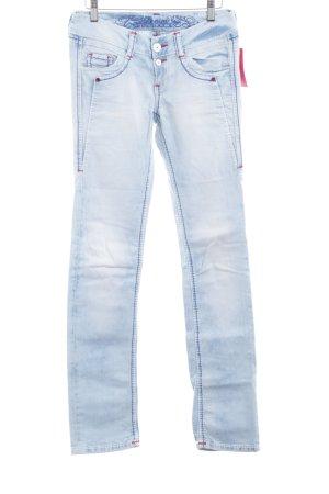 Soccx Slim Jeans himmelblau Jeans-Optik