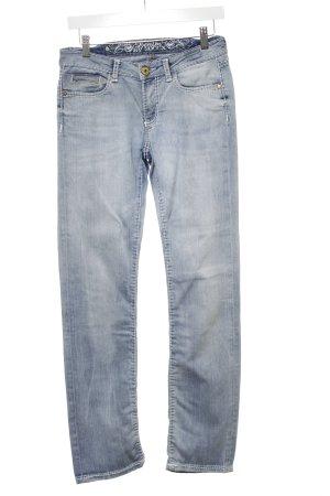 Soccx Slim Jeans himmelblau Washed-Optik