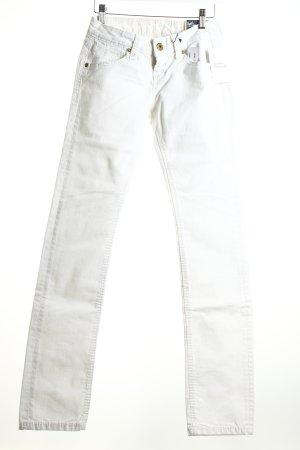 Soccx Slim Jeans weiß Marine-Look