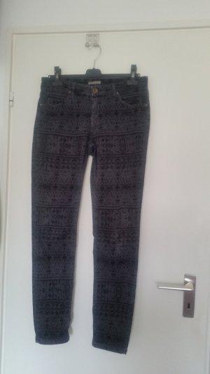 SOCCX Slimfit Jeans im Ethnostyle Gr. 30/32 schmal geschnitten