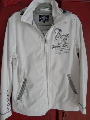 SOCCX Softshell Jacke, ungefüttert, weiß, XL / 42