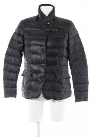 Soccx Quilted Jacket black Spring hook elements