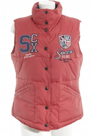 Soccx Quilted Gilet brick red casual look