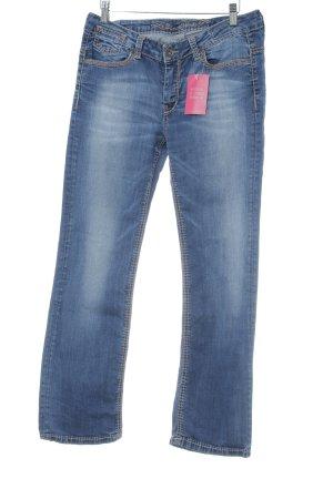 Soccx Straight-Leg Jeans blau-stahlblau Boho-Look