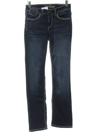 Soccx Straight-Leg Jeans dunkelblau 90ies-Stil