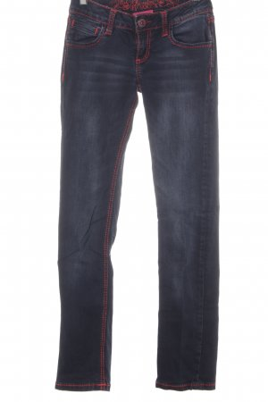 Soccx Straight-Leg Jeans dunkelblau Casual-Look