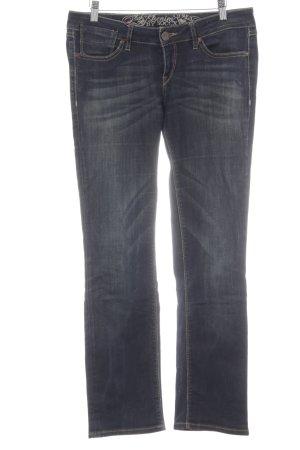 Soccx Straight-Leg Jeans dunkelblau-creme Casual-Look