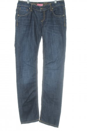 Soccx Straight-Leg Jeans dunkelblau klassischer Stil