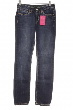 Soccx Straight-Leg Jeans dunkelblau Used-Optik