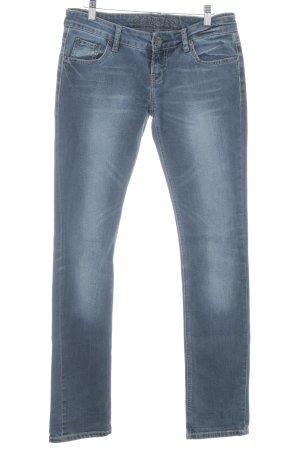 Soccx Straight-Leg Jeans graublau Bleached-Optik