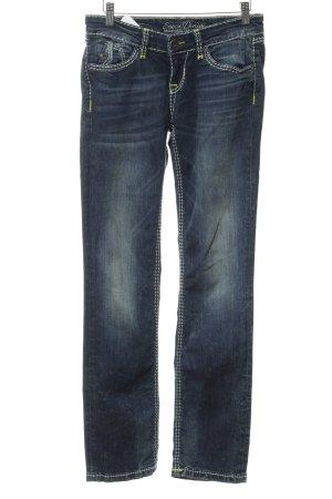 Soccx Straight-Leg Jeans stahlblau 90ies-Stil