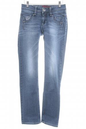 Soccx Straight-Leg Jeans stahlblau Boyfriend-Look