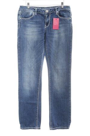 Soccx Straight-Leg Jeans stahlblau Casual-Look