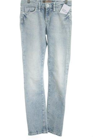 Soccx Straight-Leg Jeans stahlblau-hellblau Street-Fashion-Look