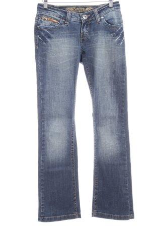 Soccx Straight-Leg Jeans stahlblau-himmelblau Casual-Look