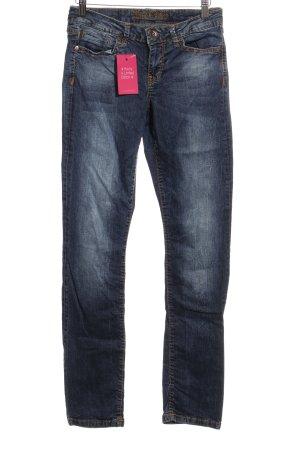 Soccx Straight-Leg Jeans stahlblau Washed-Optik