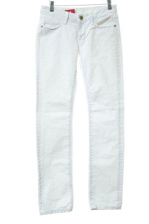 Soccx Straight-Leg Jeans weiß schlichter Stil