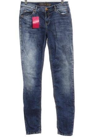 Soccx Stretch Jeans blau Used-Optik