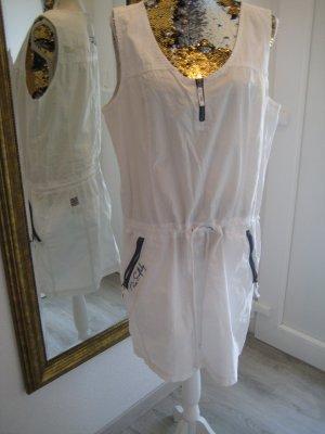 Soccx Robe cargo blanc coton