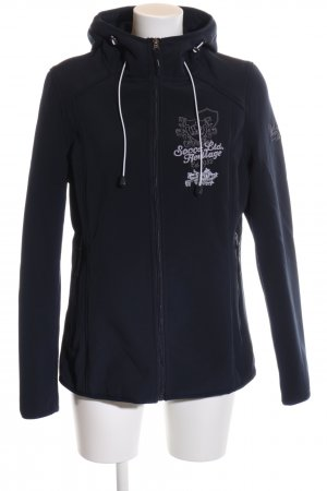 Soccx Sweat Jacket black embroidered lettering casual look