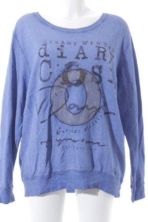 Soccx Suéter azul aciano look casual