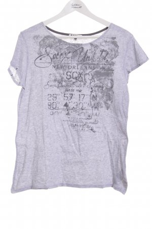 Soccx T-Shirt hellgrau Casual-Look