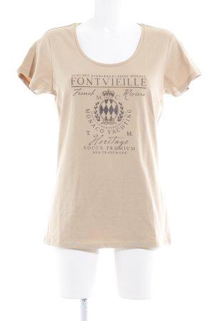 Soccx T-Shirt sandbraun Motivdruck Casual-Look