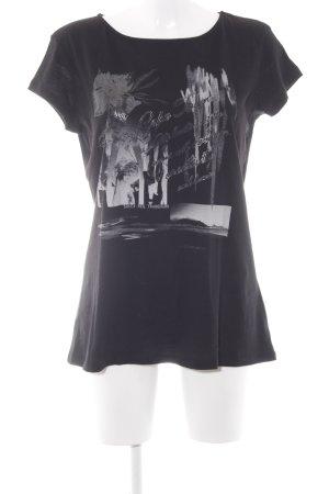 Soccx T-Shirt schwarz-grau Motivdruck Casual-Look