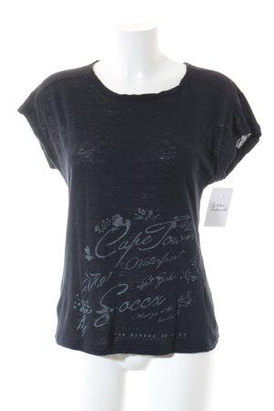 Soccx T-Shirt schwarz Schriftzug gedruckt klassischer Stil